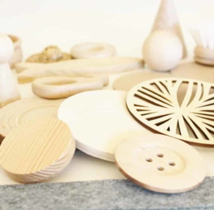 Saco de los tesoros Montessori