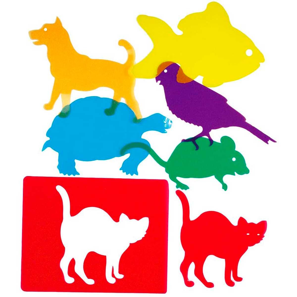Plantillas translúcidas mascotas caja de luz