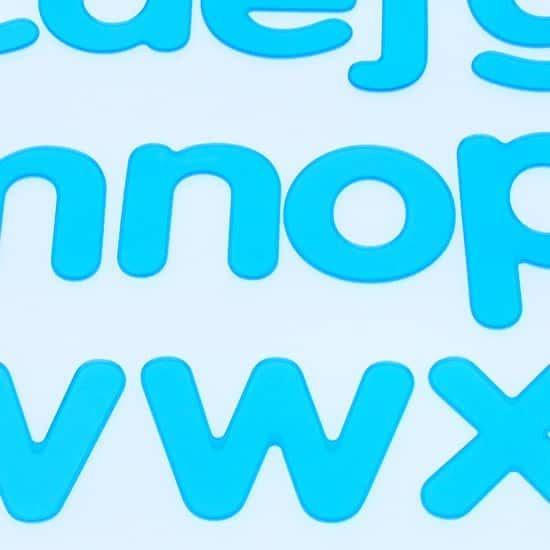 alfabeto de silicona