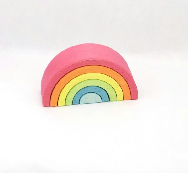 arcoiris waldorf juguetes de madera juego libre