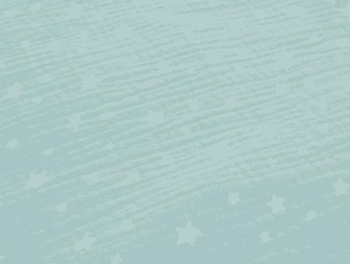 Muselina de algodón orgánico en mint con estrellas