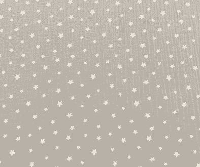 muselina de algodón con estrellas