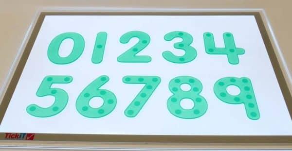 números de silicona verde