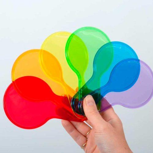 palas colores caja de luz