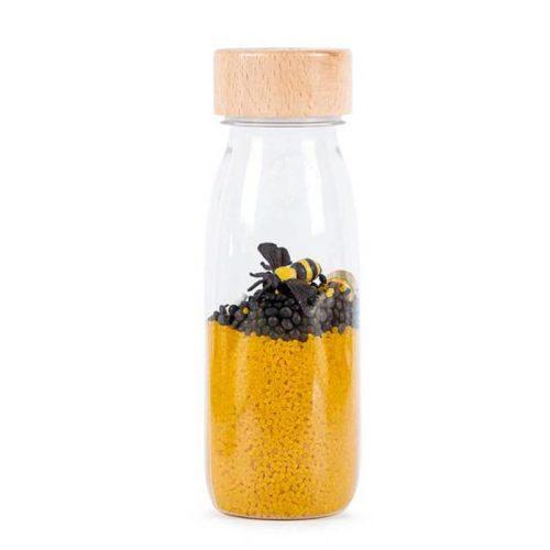 Botella sensorial abejas